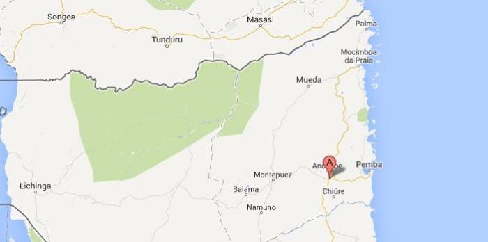 Mapa Cabo Delgado para Escritorios