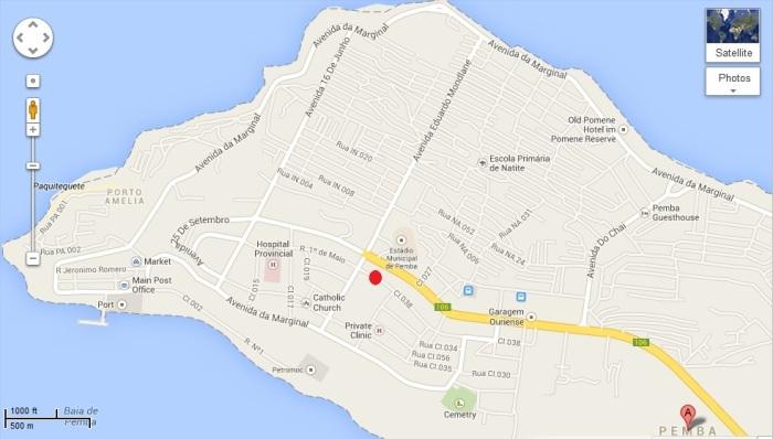 Mapa Pemba